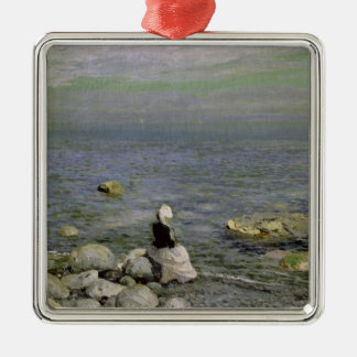 On the Shore of the Black Sea, 1890s Metal Ornament
