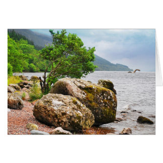 On the shores of Loch Ness with the monster Card