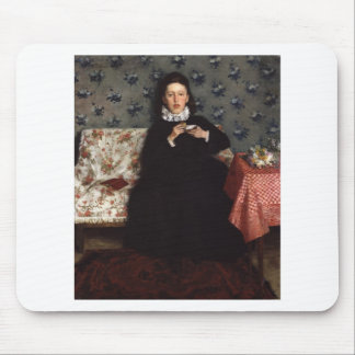 On the Sofa - 1872 by Wilhelm Trübner Mousepads