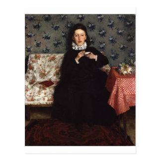 On the Sofa - 1872 by Wilhelm Trübner Postcard
