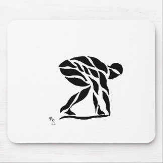 On the starting Block Mouse Pad