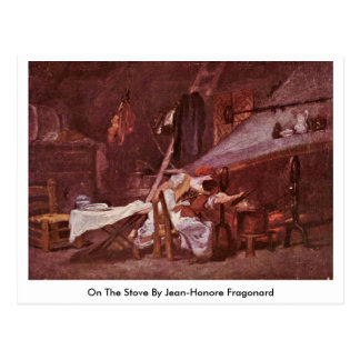 On The Stove By Jean-Honore Fragonard Postcard
