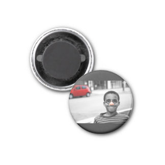 on the street clown 1 inch round magnet
