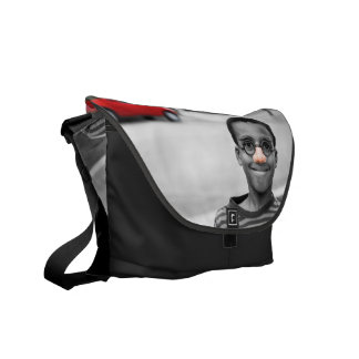 on the street clown courier bag
