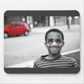 on the street clown mouse pad