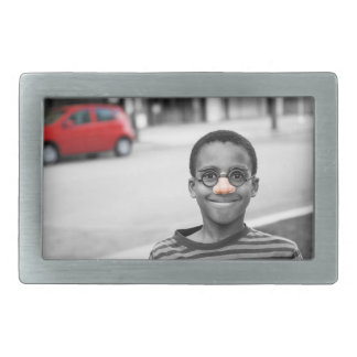 on the street clown rectangular belt buckle