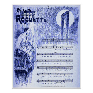 """On the street- music by Aristide Bruant, Paris 18 Print"