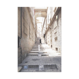 On the streets of Old City Jerusalem Canvas Print