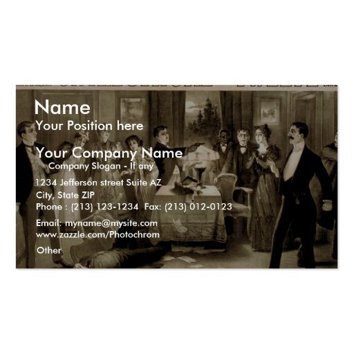 On the Stroke of Twelve, 'And I Hold the Key' Business Card Templates