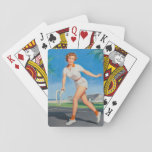 "On the Tennis Court Pin Up Art Playing Cards<br><div class=""desc"">Description: Looking for vintage pinup girl art? You've come to the right place. Indulge in your vintage pinup passion with us. Pin Up Art features a variety of pin up girl photos from the 1910s to the 1950s.  