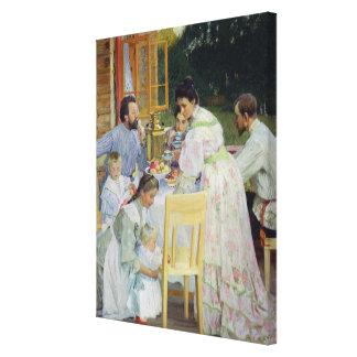 On the Terrace, 1906 Canvas Print