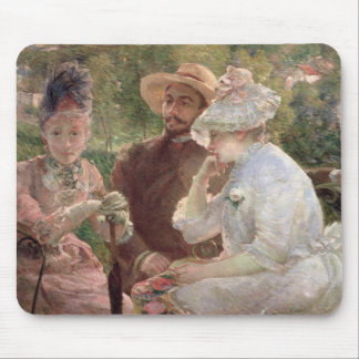 On the terrace at Sevres, 1880 (oil on canvas) Mouse Pad