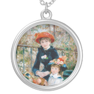 On the Terrace by Pierre-Auguste Renoir 1881 Silver Plated Necklace