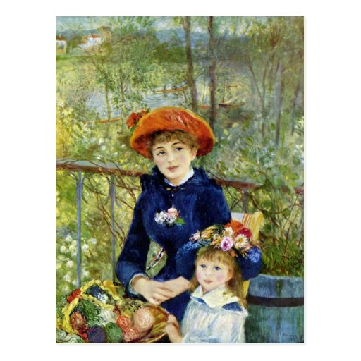 On the Terrace by Pierre Renoir Post Cards
