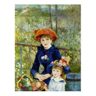 On the Terrace by Pierre Renoir Postcards