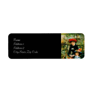 On the Terrace by Renoir Labels