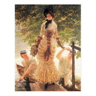 On the Thames by James Tissot Postcards