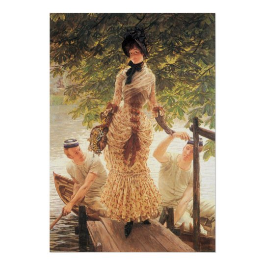On the Thames by James Tissot Poster