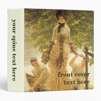 On The Thames by James Tissot, Vintage Realism Binder
