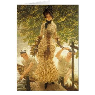 On The Thames by James Tissot Vintage Realism Cards