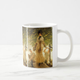 On The Thames by James Tissot, Vintage Realism Coffee Mug