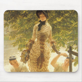 On The Thames by James Tissot, Vintage Realism Mouse Pad