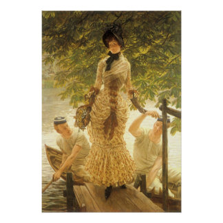 On The Thames by James Tissot, Vintage Realism Poster
