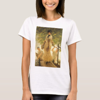 On The Thames by James Tissot, Vintage Realism T-Shirt