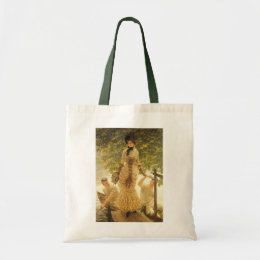 On The Thames by James Tissot, Vintage Realism Tote Bag
