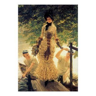 On The Thames ~ James Tissot ~ Fine Art Poster