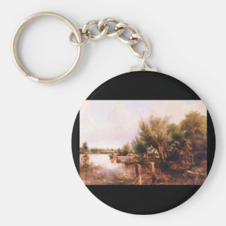 On the Thames near Henley', Frederick_Landscapes Keychain