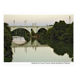 On the Tiber river Post Card