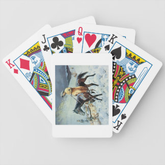 On The Trail (oil on canvas) Bicycle Playing Cards