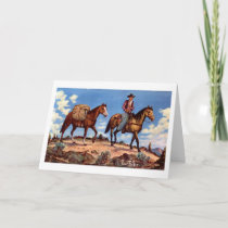 """On the Trail"" Western Christmas Card"