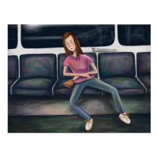 On the tube postcard