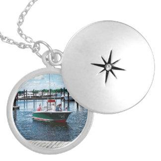 On The Water In Bristol Rhode Island Round Locket Necklace