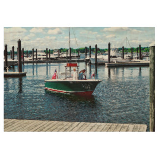 On The Water In Bristol Rhode Island Wood Poster