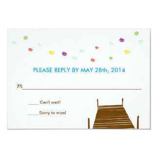 On the water RSVP reply card