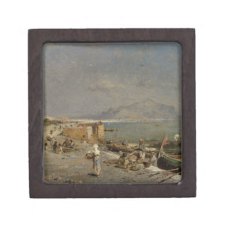 On The Waterfront at Palermo by Franz Richard Jewelry Box