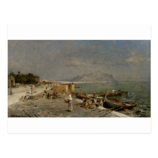 On The Waterfront at Palermo by Franz Richard Postcard