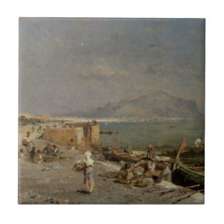 On The Waterfront at Palermo by Franz Richard Tile