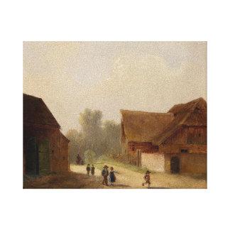 On the Way Home - Kinder am Heimweg Gallery Wrap Canvas
