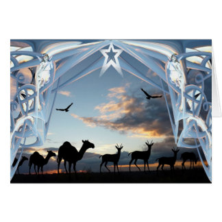 On the way to Bethlehem Greeting Card