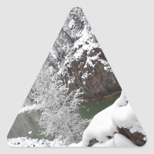 On the Way to Cascade Gorge- Durango, CO Triangle Sticker