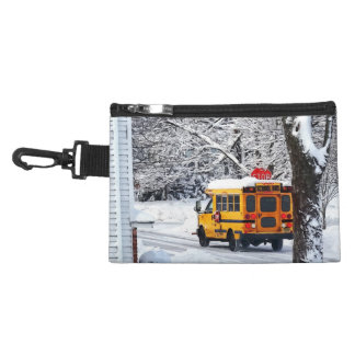 On the Way to School in Winter Accessory Bag