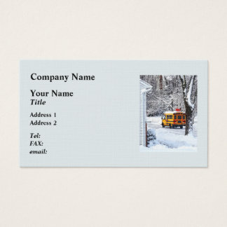 On the Way to School in Winter Business Card