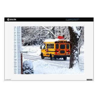 """On the Way to School in Winter Skin For 15"""" Laptop"""