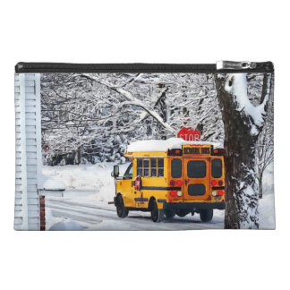 On the Way to School in Winter Travel Accessory Bag