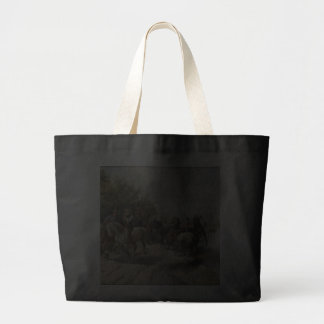 On the Way to the Horse Fair Jumbo Tote Bag