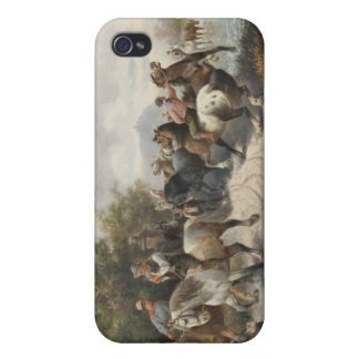 On the Way to the Horse Fair iPhone 4 Cover